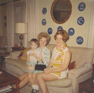 Jackie Julie Jill at Granny's 1969
