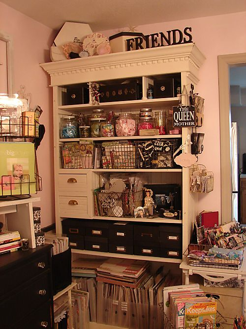 My great cabinet - houses paper and all kinds of goodies